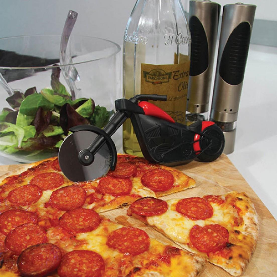 """Pizzasnijder """"Motor"""" - origineel cadeau"""